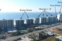 Aerial westerly view of Central Orange Beach